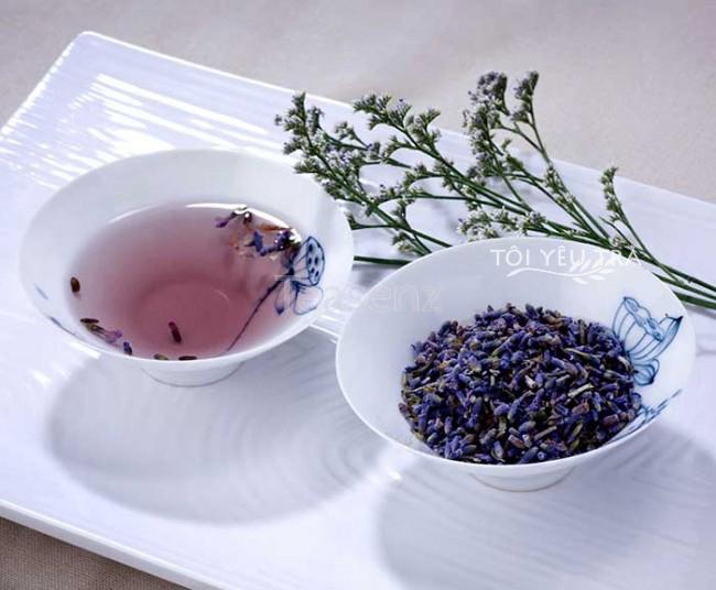 Hoa oải hương được ủ một mình hoặc mix cùng các loại trà, hoa oải hương là một