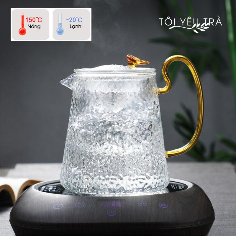 Bình pha trà thủy tinh cao cấp có lõi lọc - 500ml
