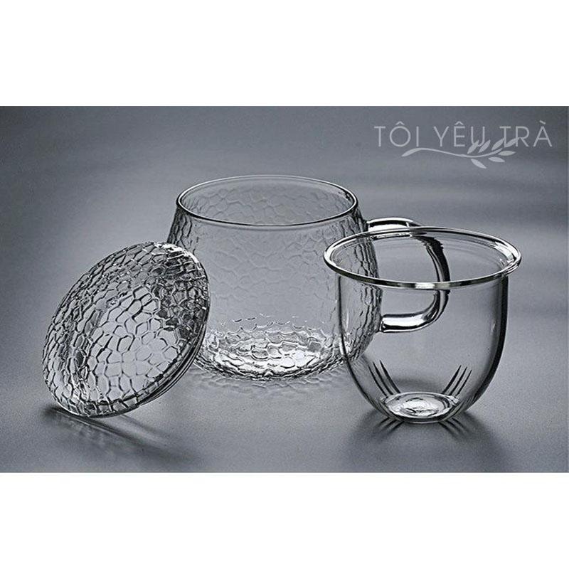 Cốc pha trà thủy tinh cao cấp có lõi lọc Glass - 360ml