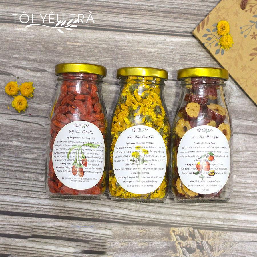 Hũ trà hoa Mini (tự chọn loại trà)