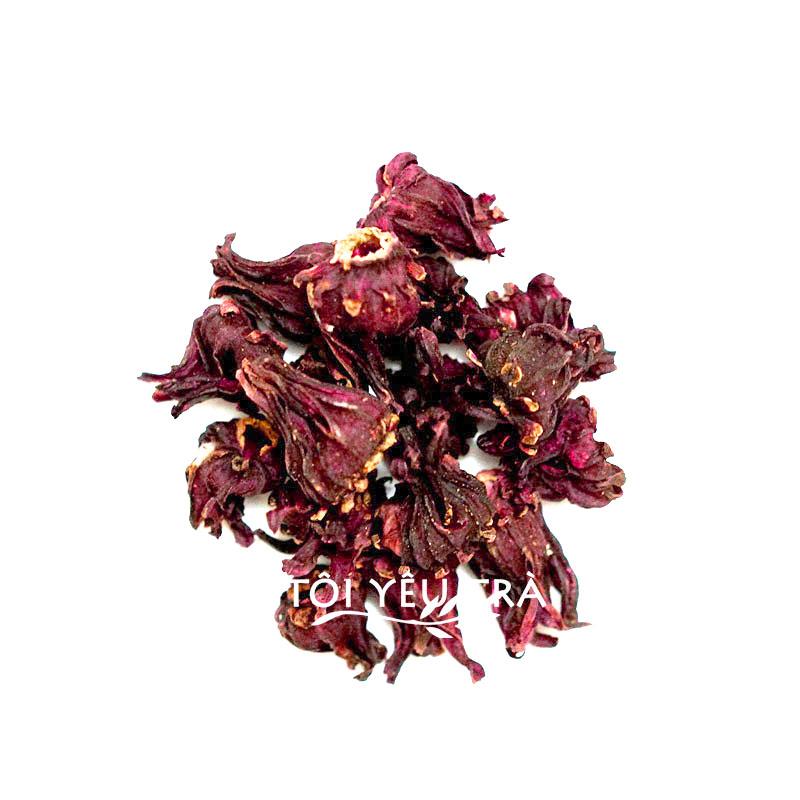 Trà hoa Atiso đỏ Đà Lạt (Hibiscus Roselle) nguyên bông